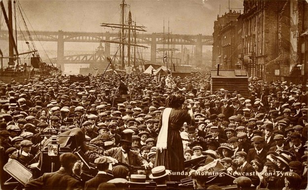 SUFFRAGETTES: Suffragette rally on the banks of the Tyne in 1914